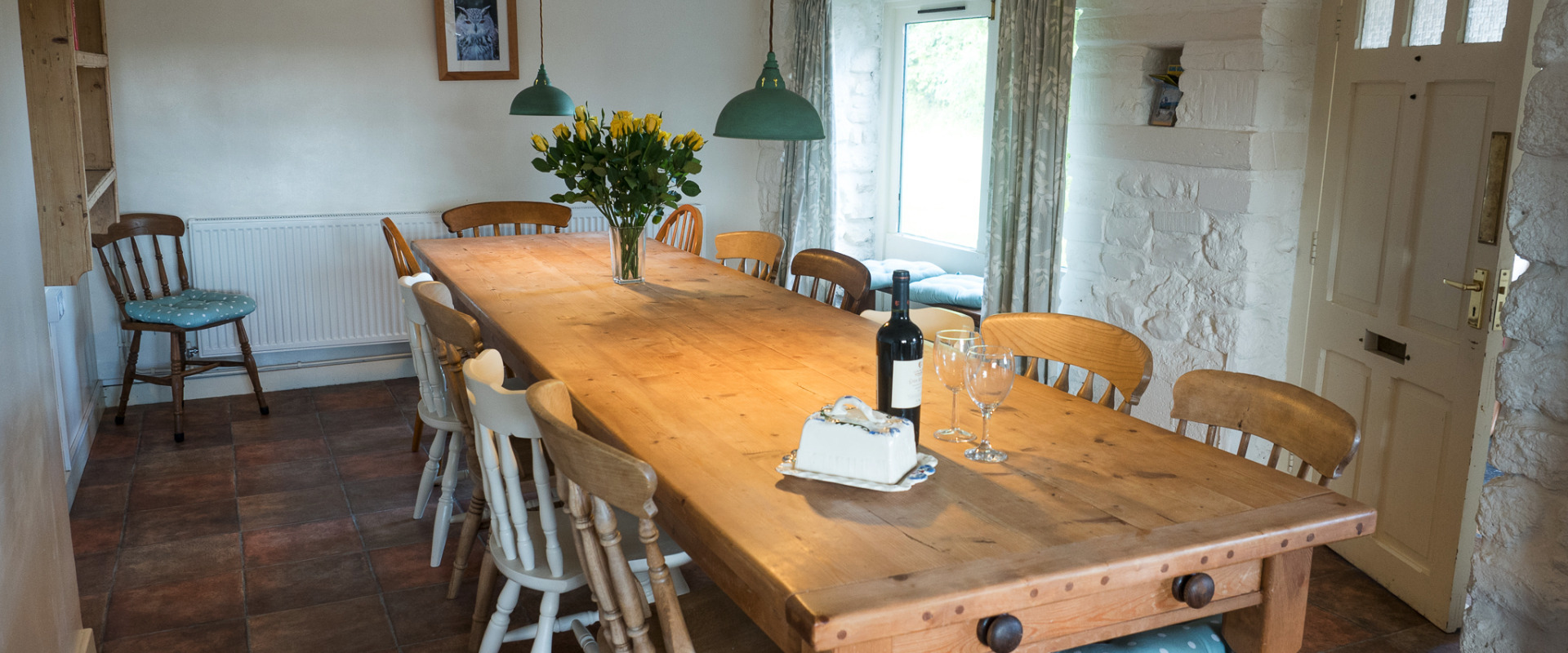 Large kitchen in Higher Westcott for self-catering large groups in Devon