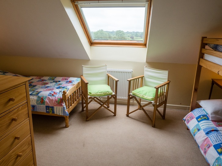 Upstairs bunks in Higher Westcott. Self catering holiday cottage for large groups in Devon