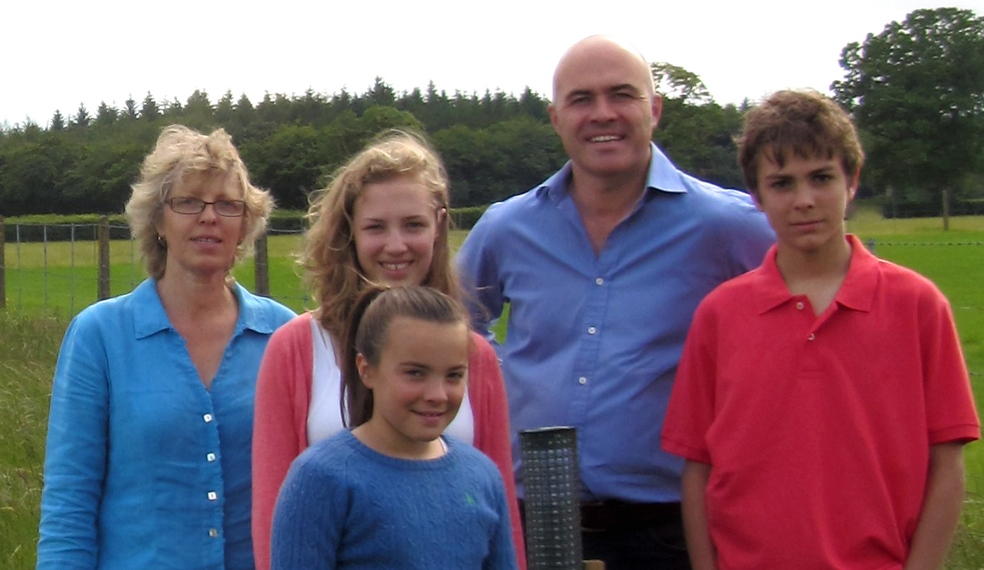 Luxmoore family at Westcott Farm Devon